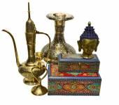 Zátiší s objekty indické kultury