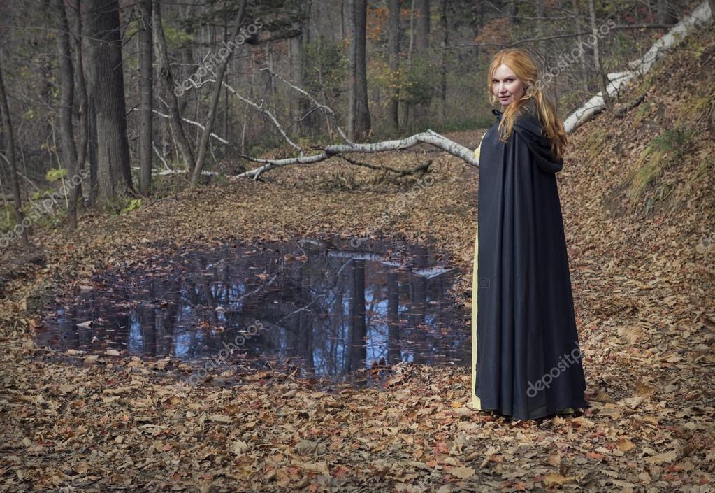 fairy girl in the autumn park
