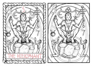 hierophant major arcana tarot card