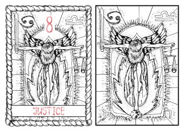 Justice major arcana tarot card
