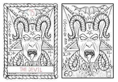devil major arcana tarot card