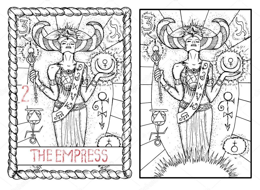 Cesarzowa Wielkie Arkana Tarota Karty Grafika Wektorowa