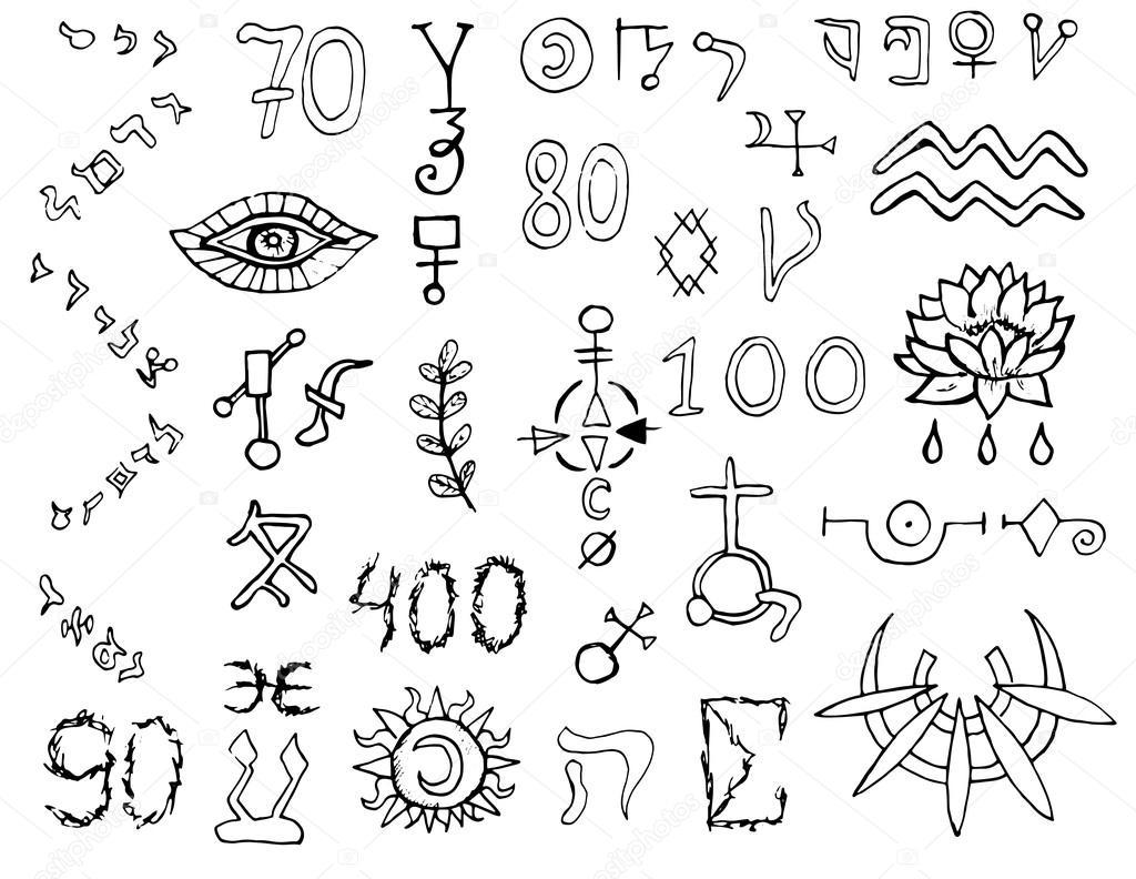 Set with mystic and magic symbols stock vector samiramay 91350742 set with mystic and magic symbols stock vector buycottarizona