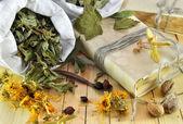 léčivé byliny na Dřevěná prkna