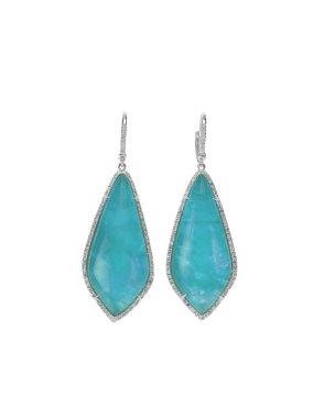 Blue Opal Fashion Drop Earrings