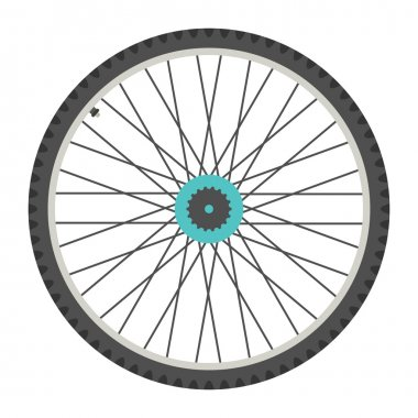 bicycle wheel in flat style