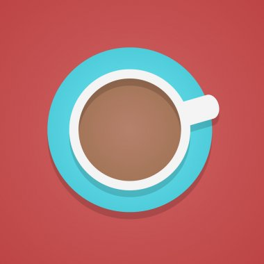 top view of the coffee cup