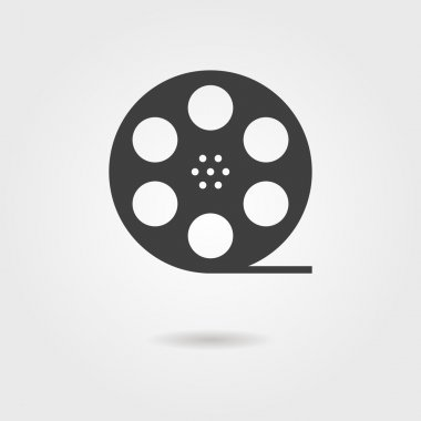 film reel icon with shadow