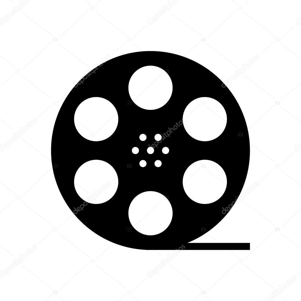 black film reel silhouette stock vector holdenkolf 73629509 rh depositphotos com film reel vector image film reel vector image