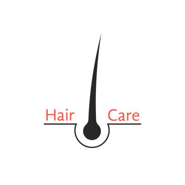 hair follicle icon isolated on white background