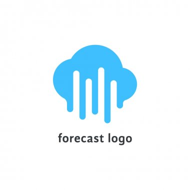 forecast logo with melted blue cloud