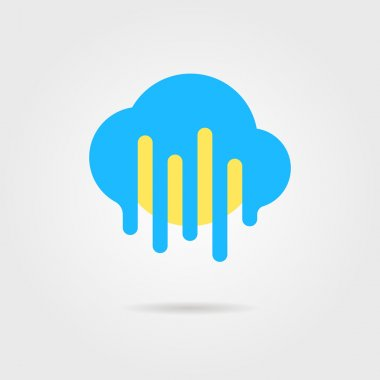weather forecast icon with cloud and sun