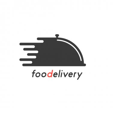 food delivery with black dish