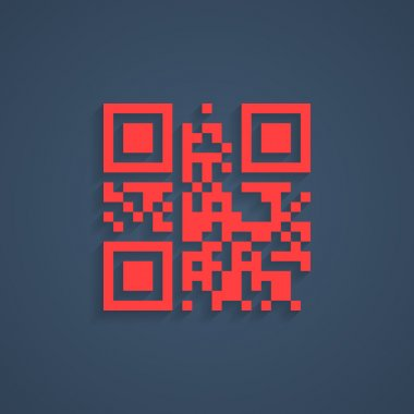 encrypted lorem ipsum text in red qr code