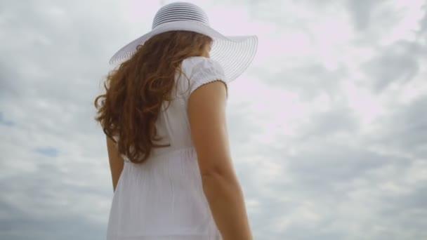 Woman on ocean beach