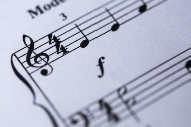 Notes on a music sheet