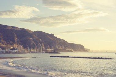 Coast at the Mediterranean Sea