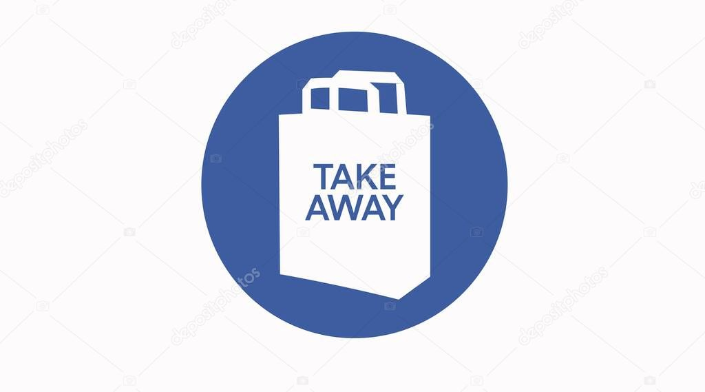 Vector Take away bag icon illustration sign icon