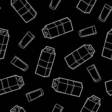 Vector Seamless Pattern Milk Box Background or Wallpaper icon