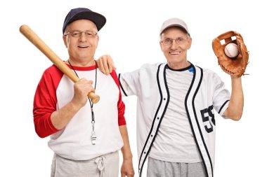 Two senior baseball players
