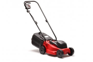 Lawn mower on white background