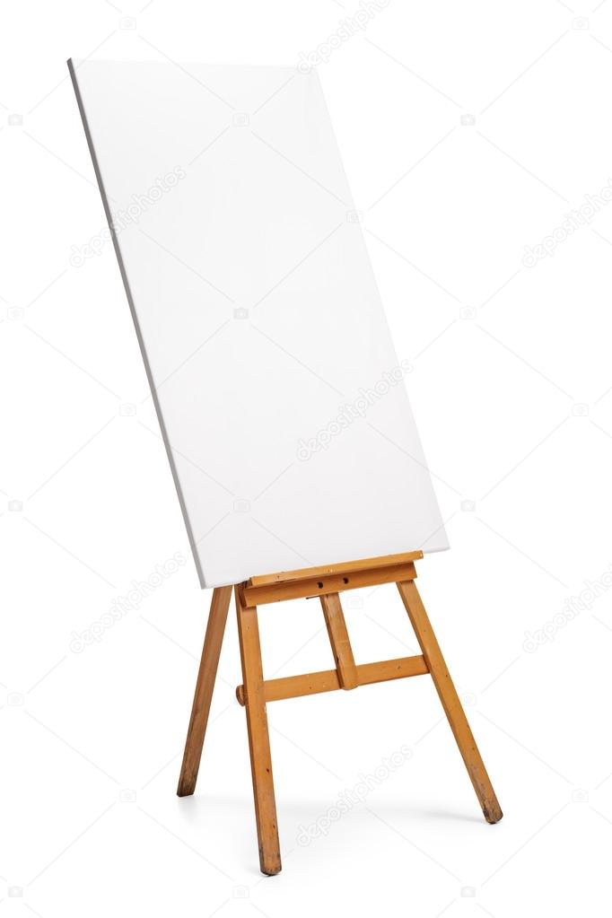 Blank Canvas On An Easel Stock Photo C Ljsphotography 107062724