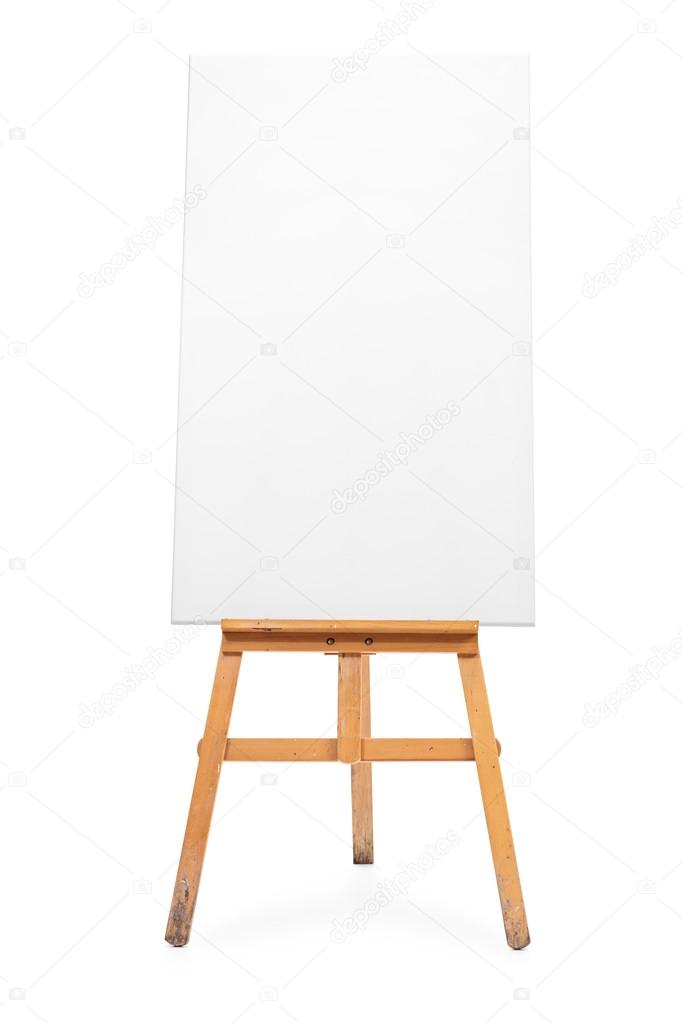 Blank Canvas On An Easel Stock Photo C Ljsphotography 107062726