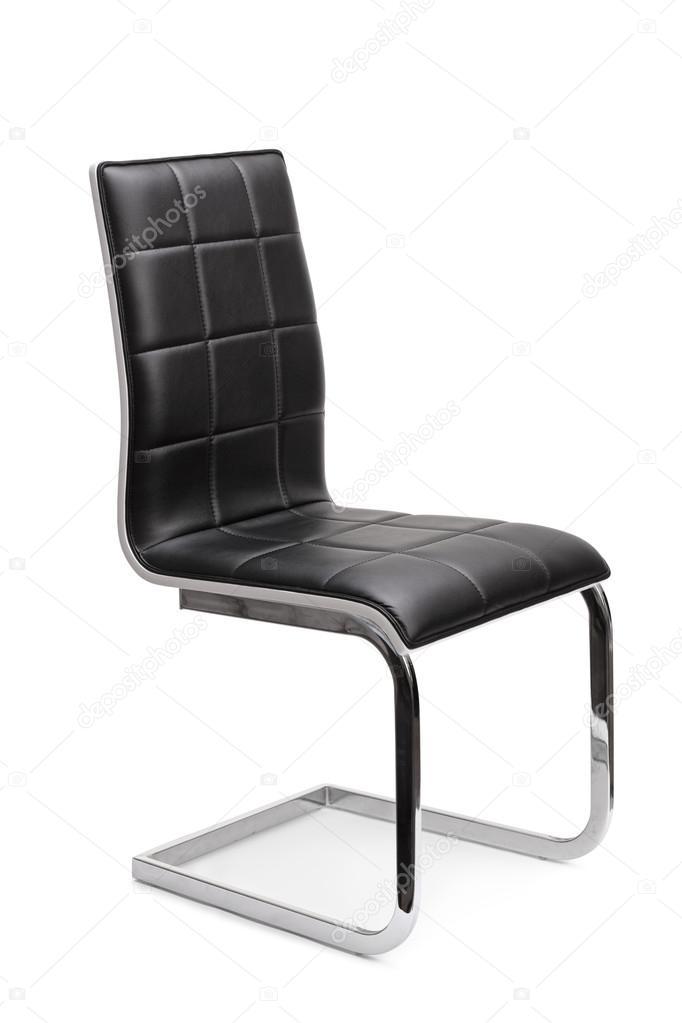 Sedia moderna in pelle nera — Foto Stock © ljsphotography #107755070