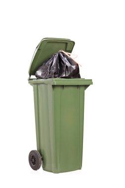 Big green trash can