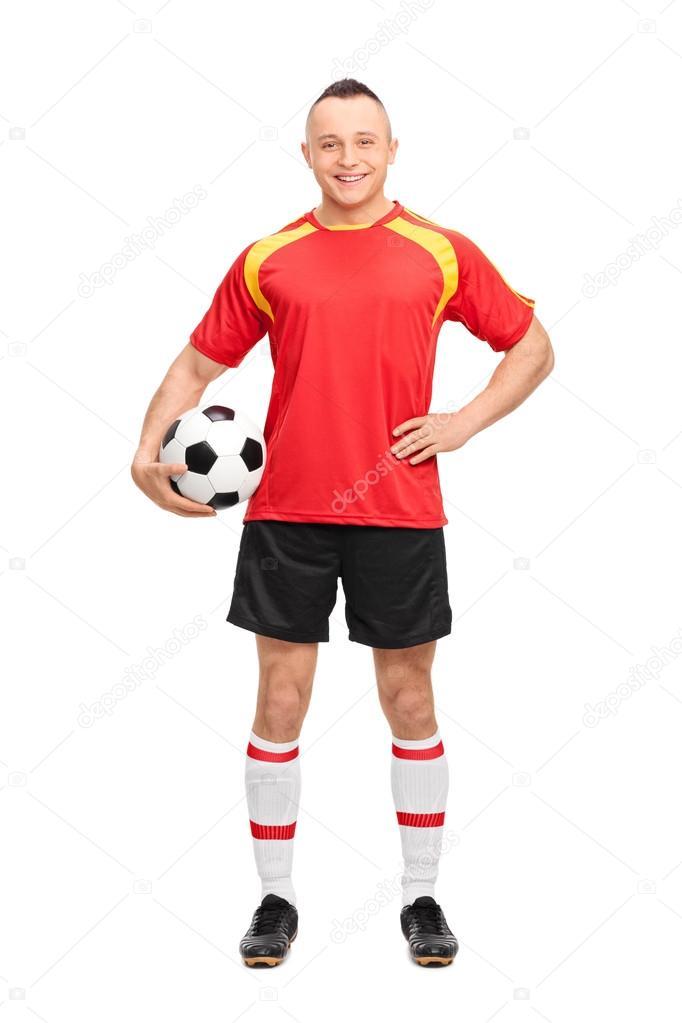 Artesanato Lembrancinhas Passo A Passo ~ jogador de futebol jovem segurando uma bola u2014 Stock Photo u00a9 ljsphotography #70495779