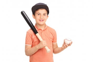 Little boy holding a baseball bat