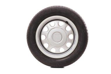 Studio shot of a car tire