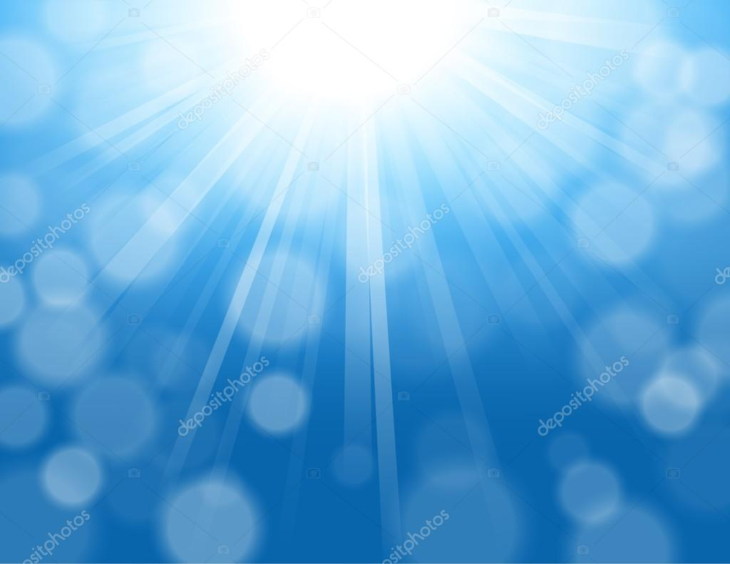 blue lights shining with bokeh background stock vector