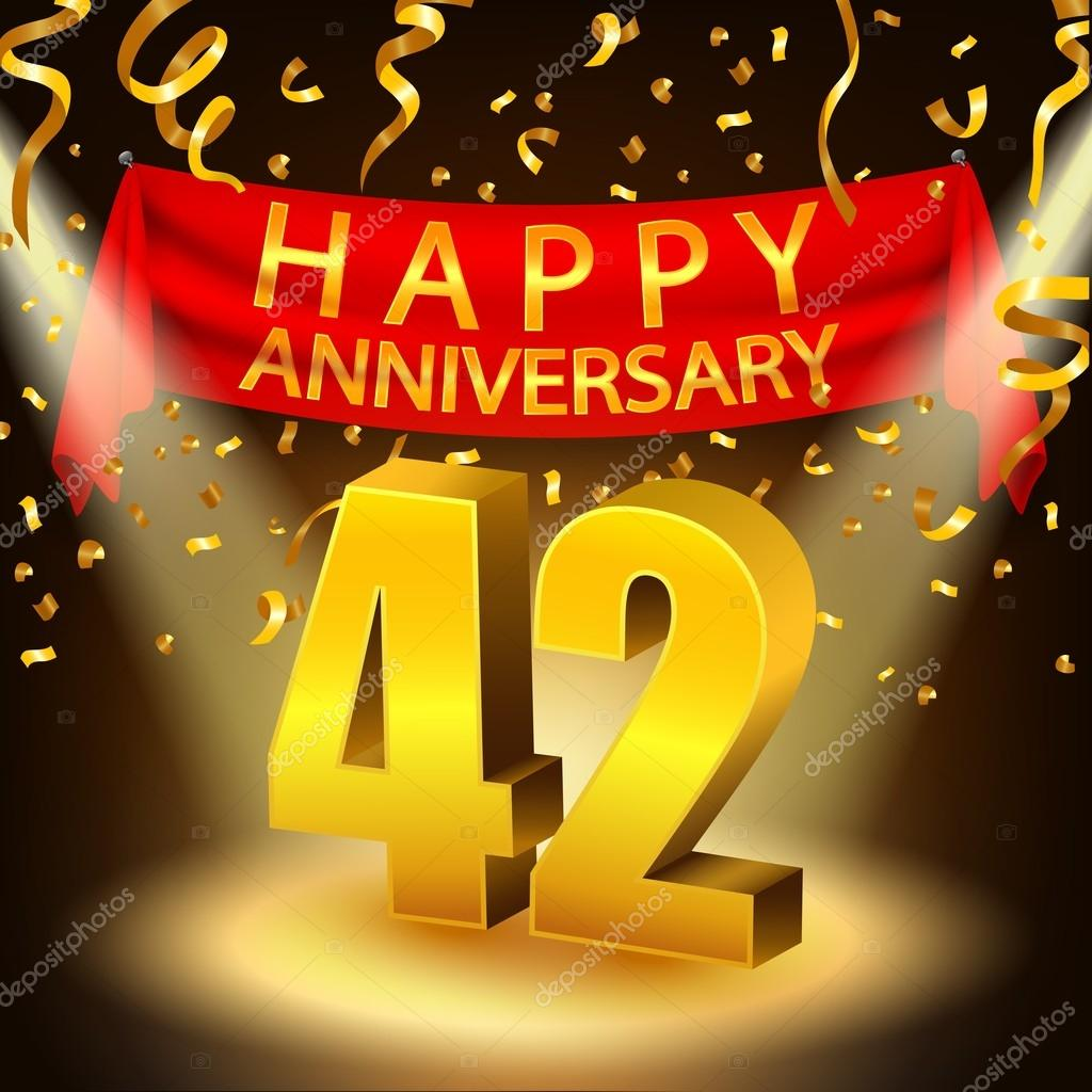 Áˆ 42nd Anniversary Stock Images Royalty Free Wedding Anniversary 42 Vectors Download On Depositphotos