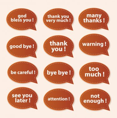 Speech Bubbles Greeting Proud Collection