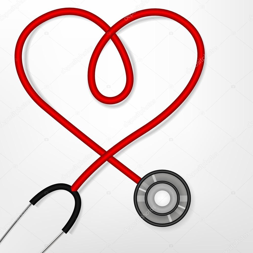 estetosc u00f3pio de forma de cora u00e7 u00e3o vetor de stock Heart Heart Beat Monitor Line Heart Beat Line Clip Art