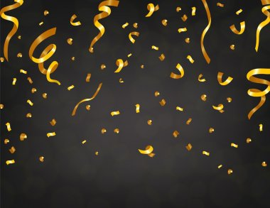 Gold confetti in dark background