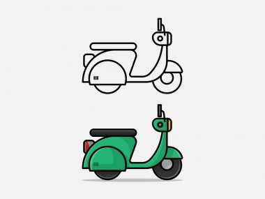 Motorcycle Types Objects Icon. Moto vehicles symbols vector stock illustration.