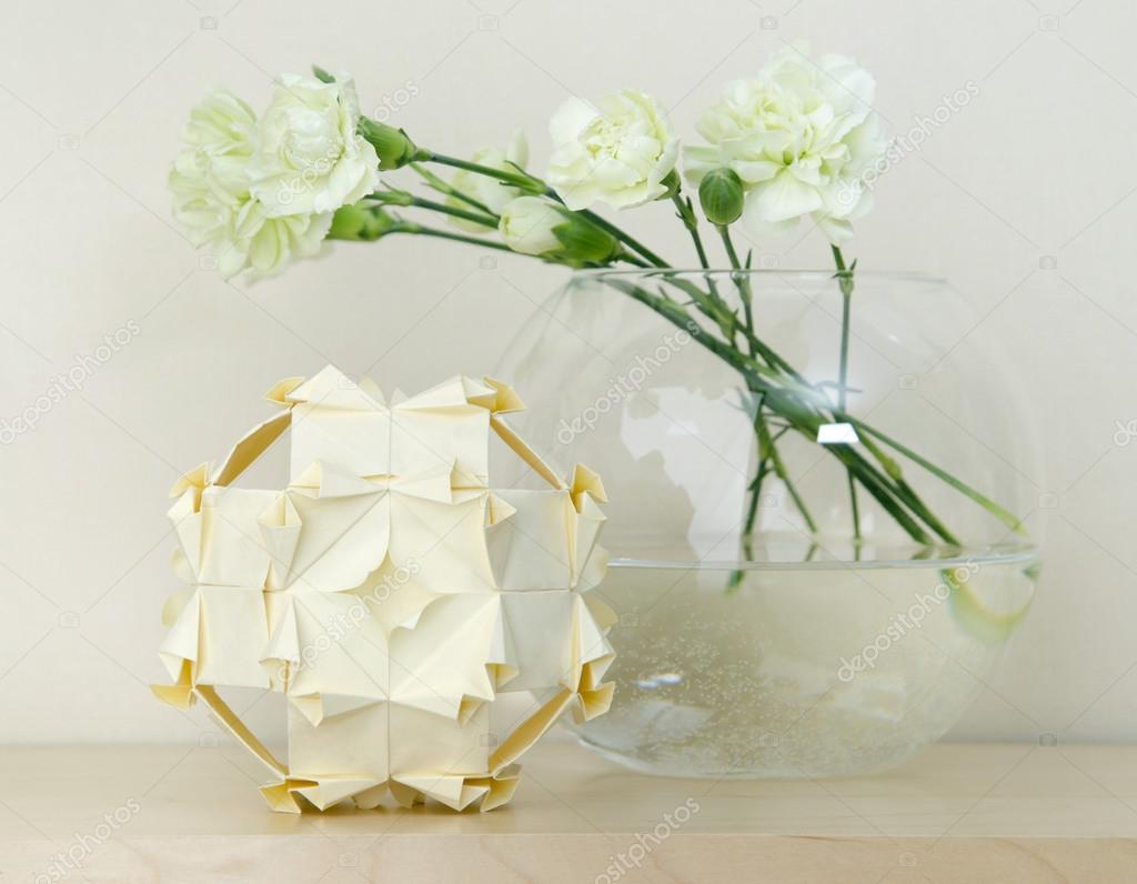Festive Interior Decoration Origami Kusudama Stockfoto Mukhin