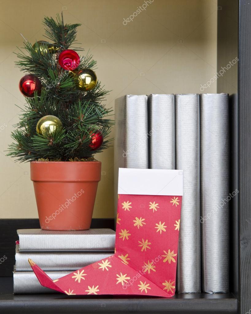 Weihnachten Strumpfe Origami Stockfoto C Mukhin 88681868
