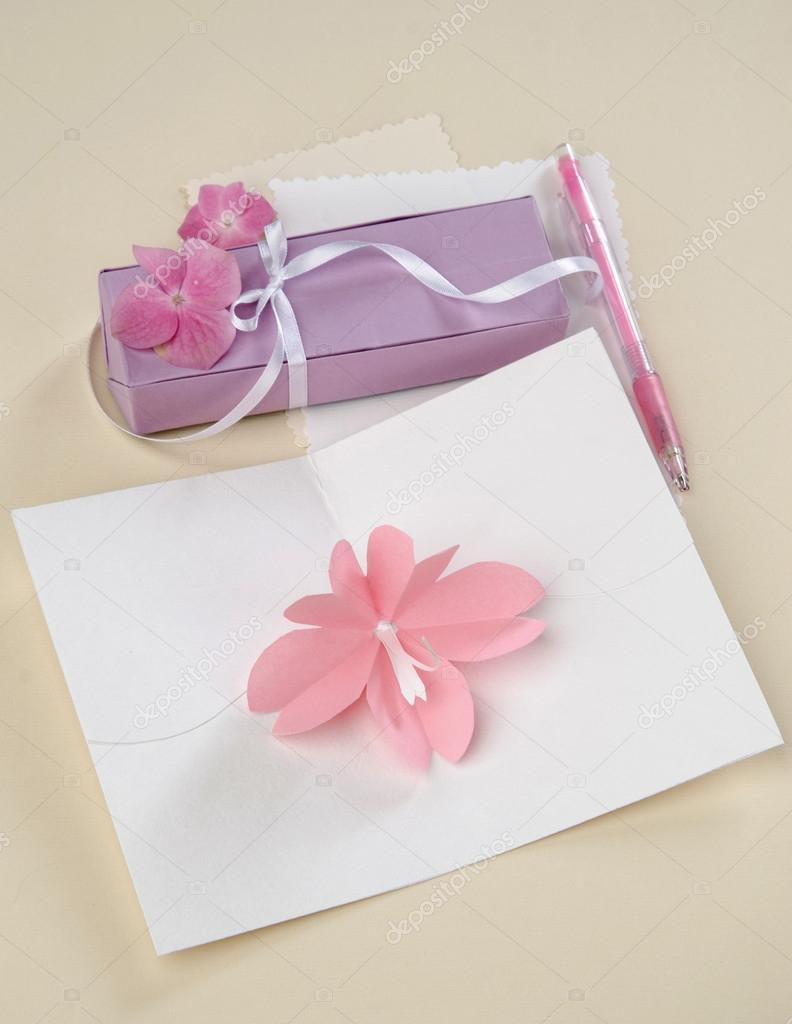 Origami flower card with a gift stock photo mukhin 97549420 origami flower card with a gift stock photo mightylinksfo