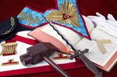 Fotografie  freemasonry symbolic objects of Worshipful MasteR