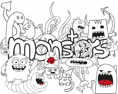 Doodle Monster Collage