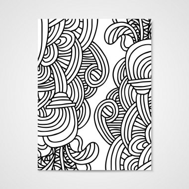 Abstract vector poste rwith zentangle ornament