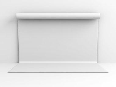 Grey Backdrop Wall
