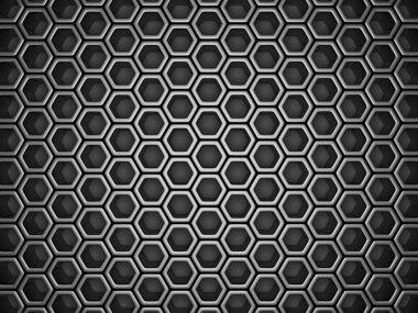 Dark Silver  Hexagon Pattern Background