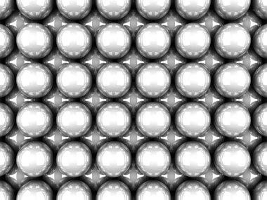 White Glossy Spheres
