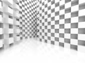 Abstraktní kostky bílé architektura