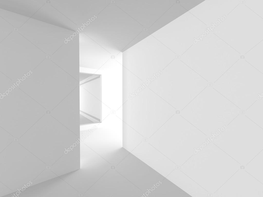 Moderne minimalistische interieur architectuur ontwerp achtergrond