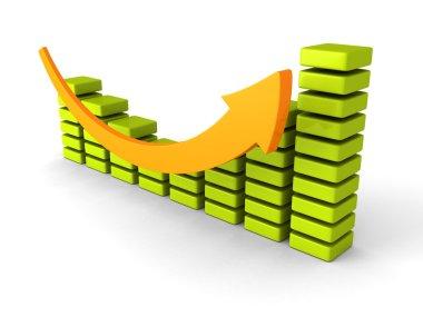 Successful business graph diagram